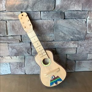 Other - Wooden Painted Mini Guitar|Bird With Strings Decor